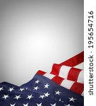 closeup of american flag on... | Shutterstock . vector #195654716