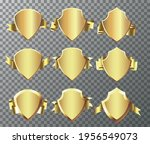wrapping gold banner ribbons.... | Shutterstock .eps vector #1956549073