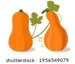 cartoon halloween pumpkin set.... | Shutterstock .eps vector #1956549079