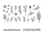 hand drawn floral elements.... | Shutterstock .eps vector #1956562390