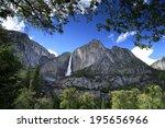 Waterfall At Yosemite National...