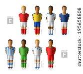 footballers  soccer players.... | Shutterstock .eps vector #195658808