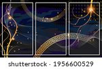 Lluxurious Dark Art Triptych Of ...