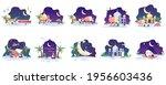 set bundle of ramadhan kareem...   Shutterstock .eps vector #1956603436