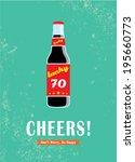 beer bottle cheers poster... | Shutterstock .eps vector #195660773