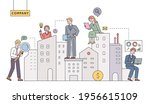 real estate managers. business...   Shutterstock .eps vector #1956615109
