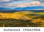 mountain valley in evening... | Shutterstock . vector #1956619846