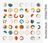 infographic elements.pie chart... | Shutterstock .eps vector #195667544