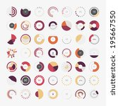 infographic elements.pie chart... | Shutterstock .eps vector #195667550