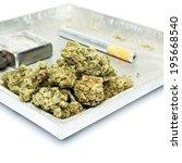 smoking weed  pot  marijuana... | Shutterstock . vector #195668540
