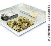 smoking weed  pot  marijuana... | Shutterstock . vector #195668558
