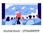 cartoon pharmacist giving... | Shutterstock .eps vector #1956688909