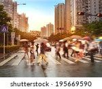Busy City Street People Zebra - Fine Art prints