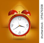 Red Alarm Clockwith Gold...