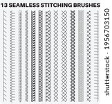 seamless sewing stitch brush... | Shutterstock .eps vector #1956703150