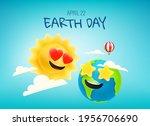 happy earth day vector banner... | Shutterstock .eps vector #1956706690