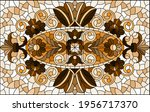 illustration in stained glass... | Shutterstock .eps vector #1956717370