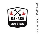 barbecue garage logo design... | Shutterstock .eps vector #1956721609