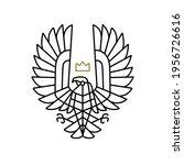 condor bird of prey king crown...   Shutterstock .eps vector #1956726616