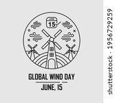 wind energy line illustration....   Shutterstock .eps vector #1956729259