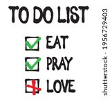 funny to do list text print.... | Shutterstock .eps vector #1956729403