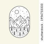 illustration of three mountains ... | Shutterstock .eps vector #1956733333