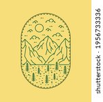 illustration of three mountains ... | Shutterstock .eps vector #1956733336