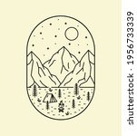 illustration of mountains and... | Shutterstock .eps vector #1956733339