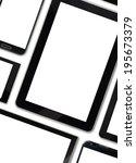 set of blank templates digital... | Shutterstock . vector #195673379