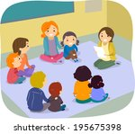 illustration of parents and... | Shutterstock .eps vector #195675398