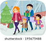 illustration of a family doing... | Shutterstock .eps vector #195675488