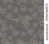 seamless patterns. beautiful... | Shutterstock .eps vector #1956760873