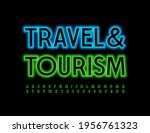vector advertising logo travel... | Shutterstock .eps vector #1956761323
