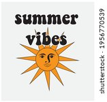 70s 80s retro slogan. summer... | Shutterstock .eps vector #1956770539