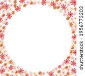 hand drawn tiny flower buns... | Shutterstock .eps vector #1956773203