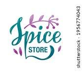 vector illustration of spice... | Shutterstock .eps vector #1956774043