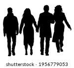 crowds people walking on street.... | Shutterstock .eps vector #1956779053