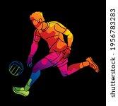 gaelic football male player... | Shutterstock .eps vector #1956783283