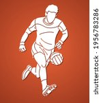 gaelic football male player... | Shutterstock .eps vector #1956783286
