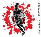 gaelic football female player... | Shutterstock .eps vector #1956783289