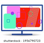 monitor infographics with... | Shutterstock . vector #1956790723