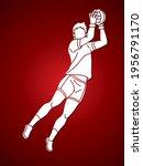 gaelic football male player... | Shutterstock .eps vector #1956791170