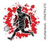 gaelic football female player... | Shutterstock .eps vector #1956791173