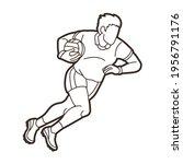 gaelic football male player... | Shutterstock .eps vector #1956791176