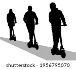 young athlete on scooter for... | Shutterstock .eps vector #1956795070