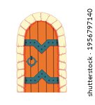 fairytale door medieval.... | Shutterstock .eps vector #1956797140