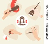 beauty shop icons | Shutterstock .eps vector #195680738