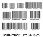 barcode isolated on transparent ... | Shutterstock .eps vector #1956821026