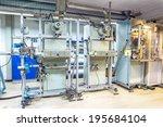fragment inside a modern plant...   Shutterstock . vector #195684104