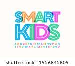 vector creative ign smart kids. ... | Shutterstock .eps vector #1956845809